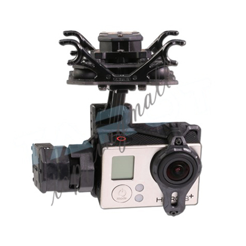 Tarot T4-3D TL3D02 Gimbal for Gopro Hero4/3+/3 Sports Camera Double Shock Absorber PTZ for DIY Drone FPV 50% OFF tarot t4 3d dual shock absorber 3 axis gimbal ptz for camera gopro hero4 3 3 tl3d02 multicopter