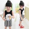 Bebé Ropa de Las Muchachas Sin Mangas Vestidos Moda Niños Ropa de Diseño de La Flor Niñas Infantiles Vestido de Niño Traje de Niño Niña A073