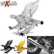 Z900 RS CNC Aluminum Footrest Adjustable Rearset Rear Footpeg for Kawasaki Z900RS 2018 Motorcycle Rear Set Foot Pegs Pedal цены онлайн