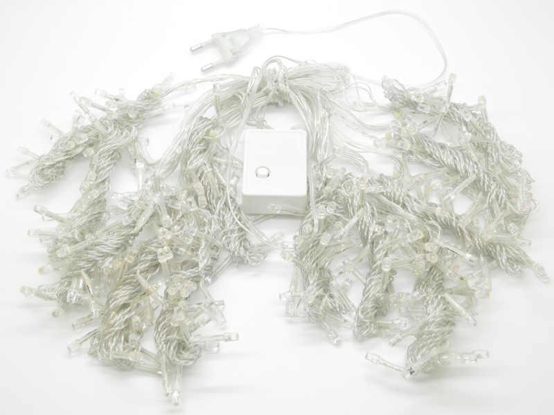300 светодиодов 4.5 м x 3 м строка Шторы гирляндой для рождественской вечеринки Свадьба Декор сада теплый белый/белый Бесплатная доставка