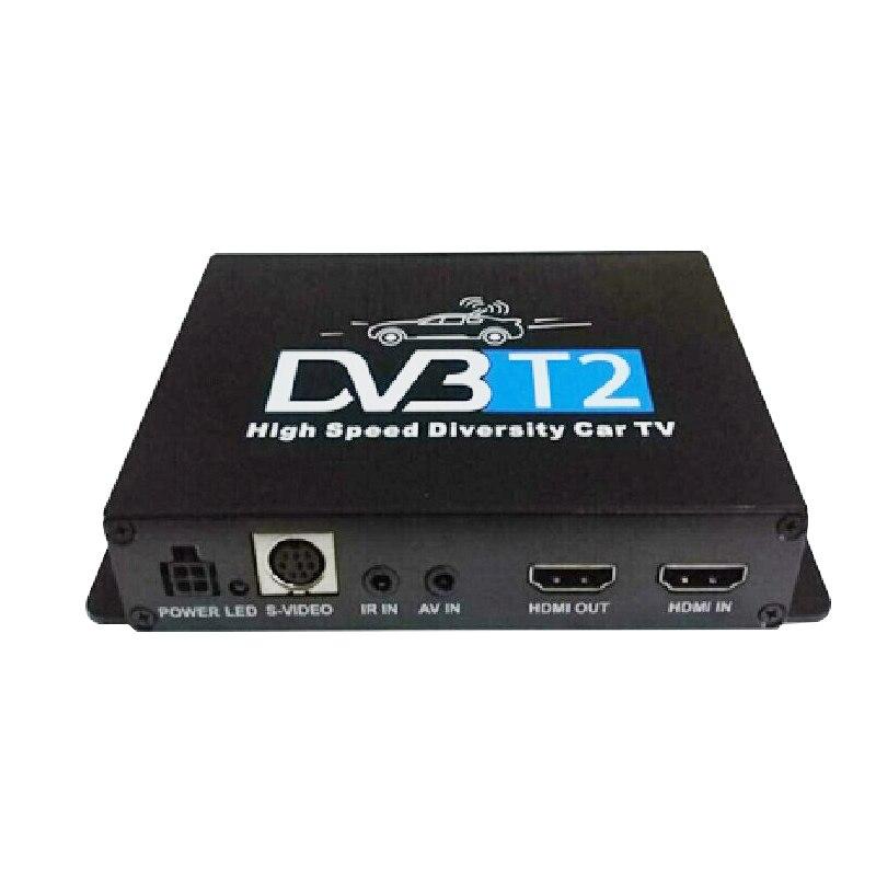 Double Dual Antenna High Speed DVB-T2 DVB-T Car TV Receiver DVB T2 DVB T 1080P HD Receptor H.264 MPEG4 Mobile Digital TV TunerDouble Dual Antenna High Speed DVB-T2 DVB-T Car TV Receiver DVB T2 DVB T 1080P HD Receptor H.264 MPEG4 Mobile Digital TV Tuner