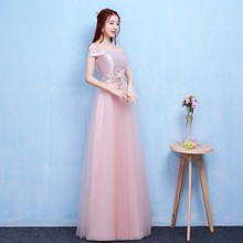 Fashion Style  Long Bridesmaid Dresses Sexy A Line Women Dress for Wedding Party Back of Bandage v neck red bean pink colour above knee mini dress satin dress women wedding party bridesmaid dress back of bandage