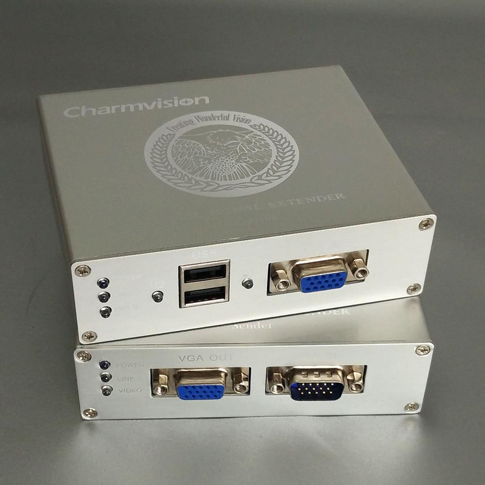Charmvision EKU100HR EKU200HR EKU300HR 100m 200m 300m USB Keyboard Mouse VGA KVM Extender via Single RJ45 STP UTP cat5E cable