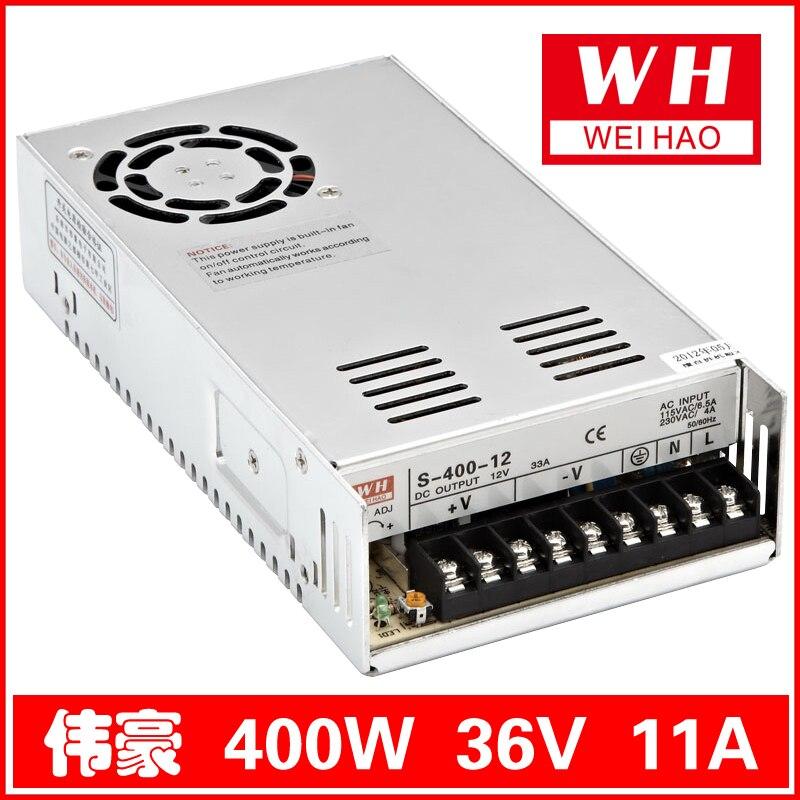 36V/11A 400W switching power supply S-400-36 400w s400w 36v 11a led switching power supply 36v 11a 85 265ac input ce rosh power suply 36v output