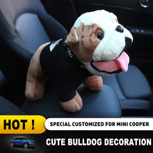 Bulldog Ornament Toy New Fashion Interior Decoration Cute Lovely Plush Cotton Toy For Mini Cooper On