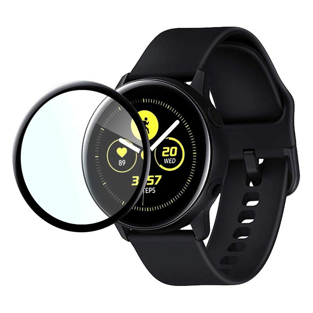 Tempered-Glass Active-Screen Curved Galaxy Watch Samsung for 3D Full-Coverage