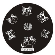Nail Art Image Stamp Placas de estampado Manicure Template Hehe Series 022 P30 F35 HW