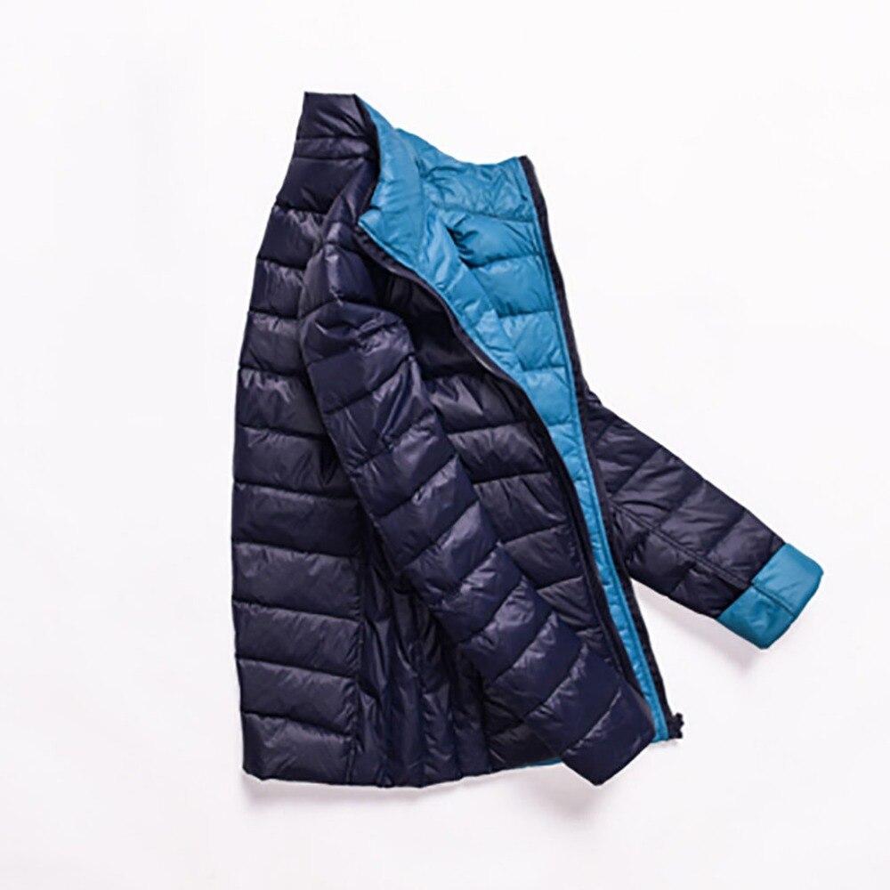 Winter Jackets Women Ultra Light Down Jacket White Duck Down Coat Long Sleeve Warm Parka Female Portable Double Side Outwear