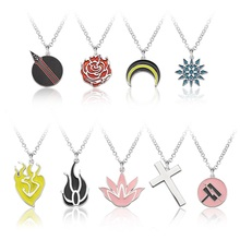Anime RWBY Pendant NecklaceRose Weiss Schnee Blake Belladonna Yang Xiao Long Symbol Statement Necklace Jewelry gift