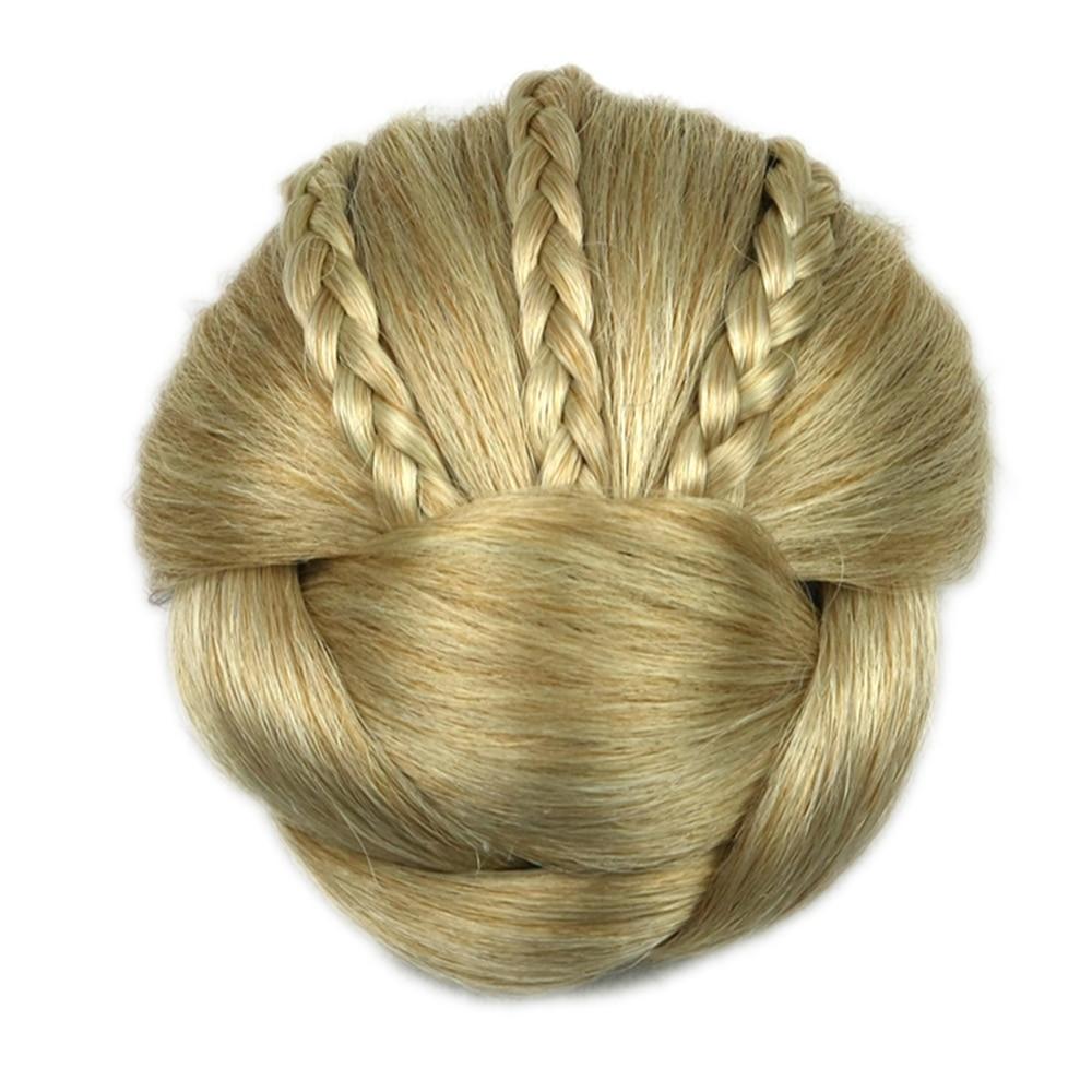 Soowee 6 Colors Synthetic Hairpiece Braided Chignon Hair Clip In Hair Bun Donut Hair Rollers Headwear Hair Accessories For Women