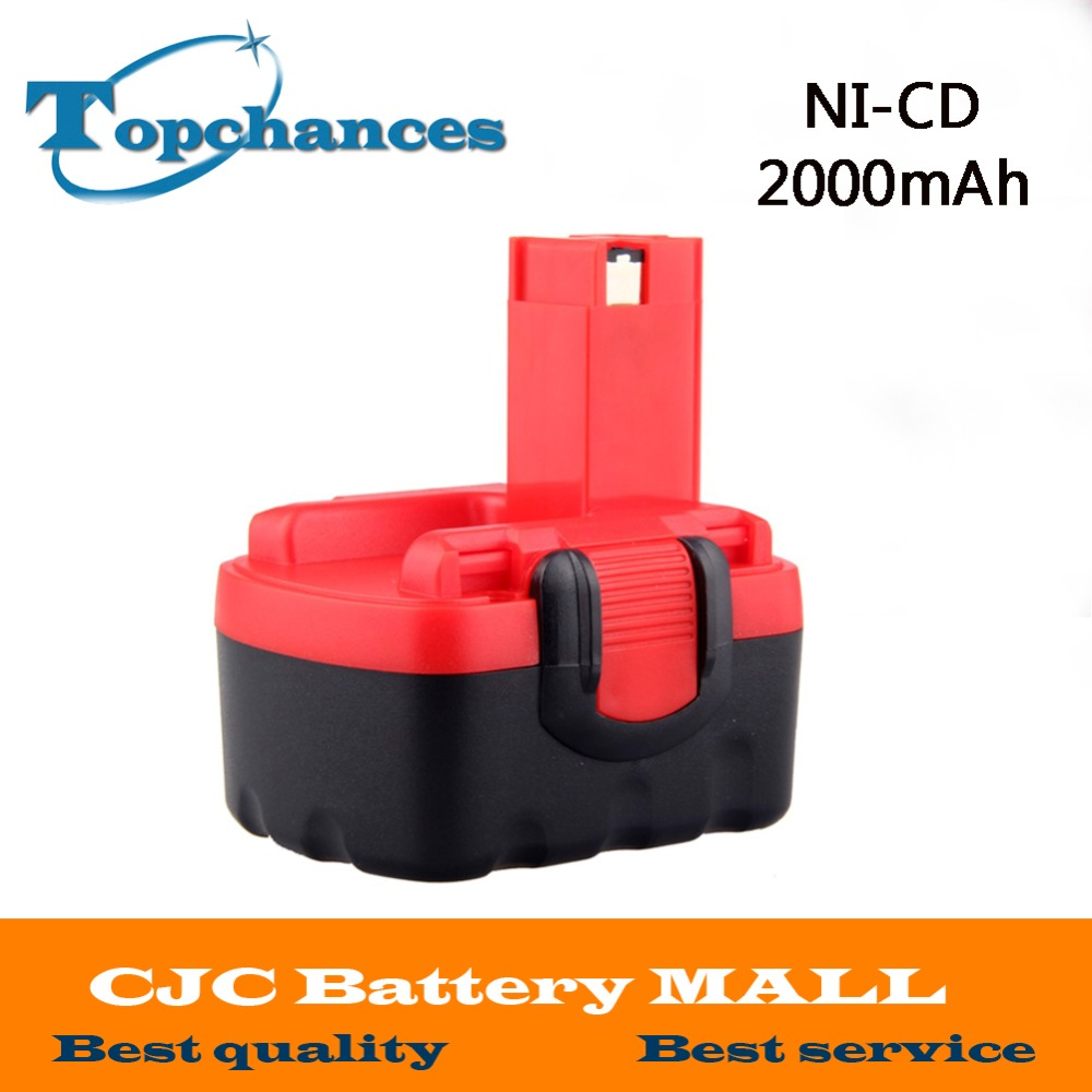 <font><b>14.4V</b></font> 2000mAh Ni-CD Cordless Replacement Rechargeable Battery for Bosch 2 607 335 711 BAT038 BAT040 BAT041 BAT140 image