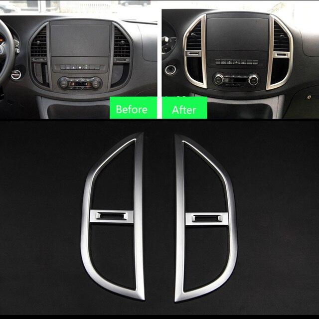 TTCR,II ABS Accessoires pour Mercedes Benz VITO 2016 Intérieur Center  Console Moyen Air Sortie