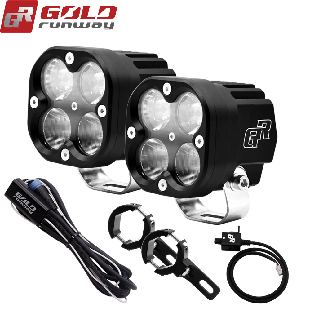 ROTA DO ouro X4 40 W Auxiliar LEVOU Luzes Led Spot light Work/Flood/Combo Lamp driving NEVOEIRO 12 v 4200 ml Motocicleta Holofotes Headligh