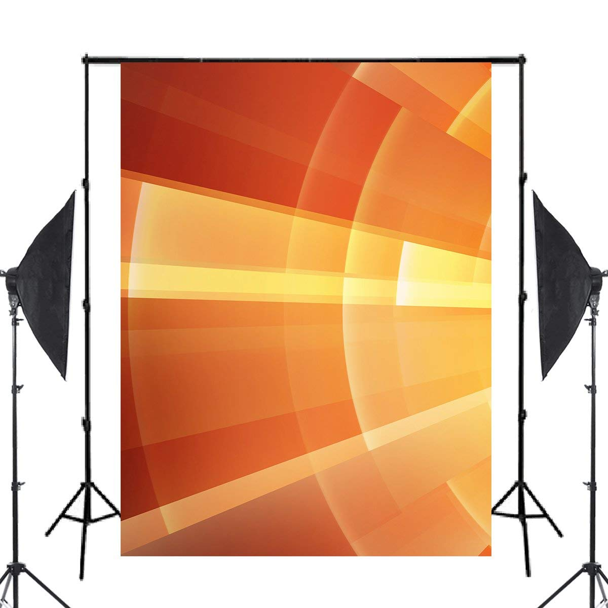 Image 2 - Abstract Art Background Photography Shining Backdrops For Picture Photo Studio Orange Background Props 5x7ft-in Photo Studio Accessories from Consumer Electronics