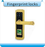 DHL free shipping 4 AA battery Digital Safe Remote Control Code Password Sliding Biometric Fingerprint door lock