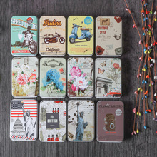 Colorful Mini Tin Metal Box Sealed Jar Packing Boxes Jewelry Candy Small Storage Cans Earrings Headphones Gift