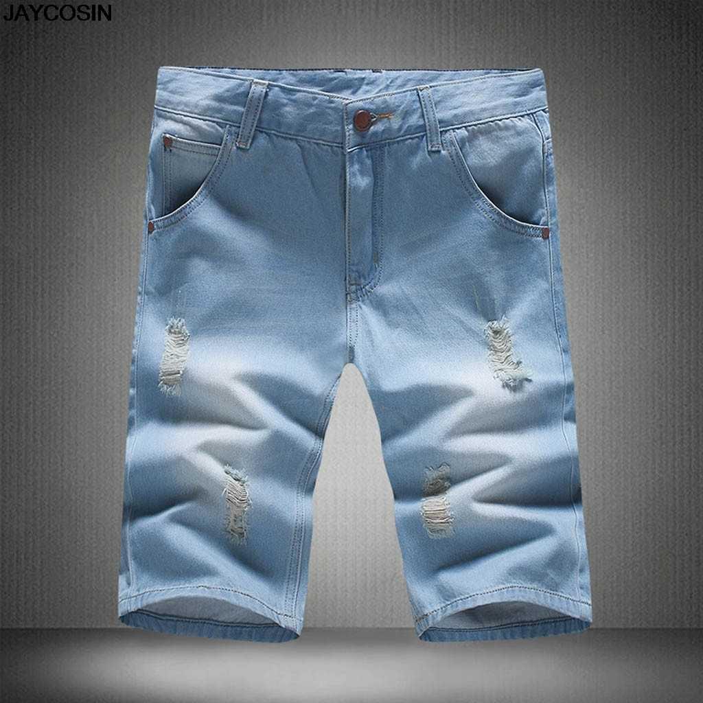 KLV dżinsy nowy hot sprzedaż moda męska duży rozmiar kieszeń na co dzień Slim krótkie spodnie dresowe spodnie jeansowe spodnie szorty wysokiej jakości 9626
