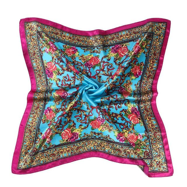 Women Floral Printed Square...