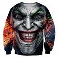 Осень новый Толстовки Подписали Джокер Футболка задира татуировку Джокер Темный Рыцарь 3d Толстовки Женщины Мужчины Бэтмен DC Comics пуловеры
