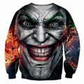 autumn new Hoodies Inked Joker Sweatshirt badass tattooed Joker Dark Knight 3d Sweats Women Men Batman DC Comics pullovers