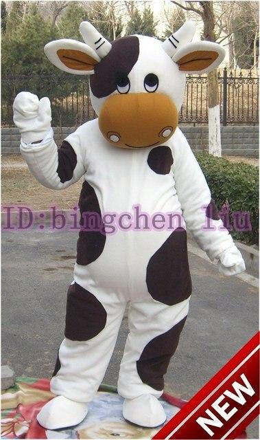 Vacas Vaca Blanco Y Negro Cosplay Del Traje Del Personaje De Dibujos