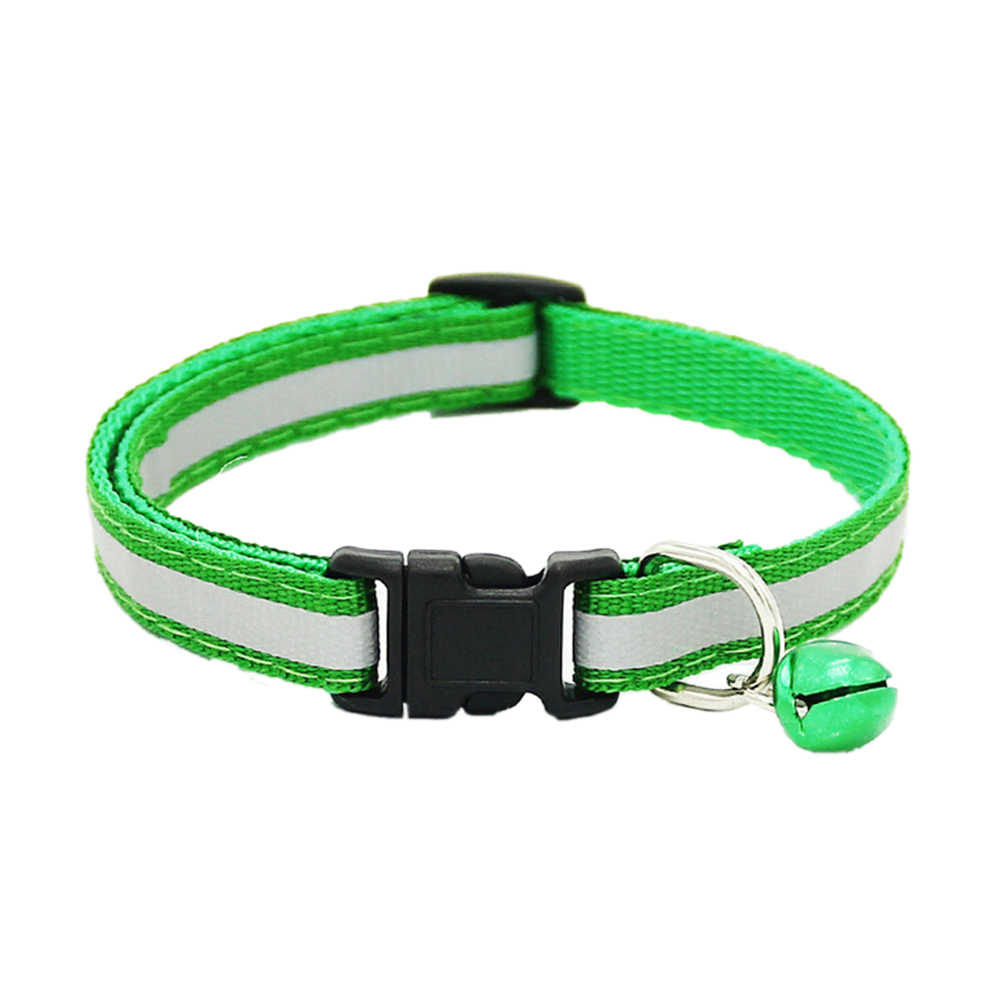 1.0 CM Lebar Anjing Nilon untuk Anjing Peliharaan Kerah Kecil Anjing Kucing Collarnecklace dengan Bell untuk Perlengkapan Anjing