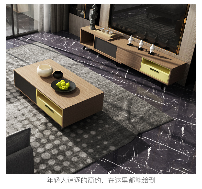 TV Stand Modern Living Room Home Furniture Tv Led Monitor Stand Mueble Tv Cabinet Mesa Tv Table + Coffee Table Centro Table Bass