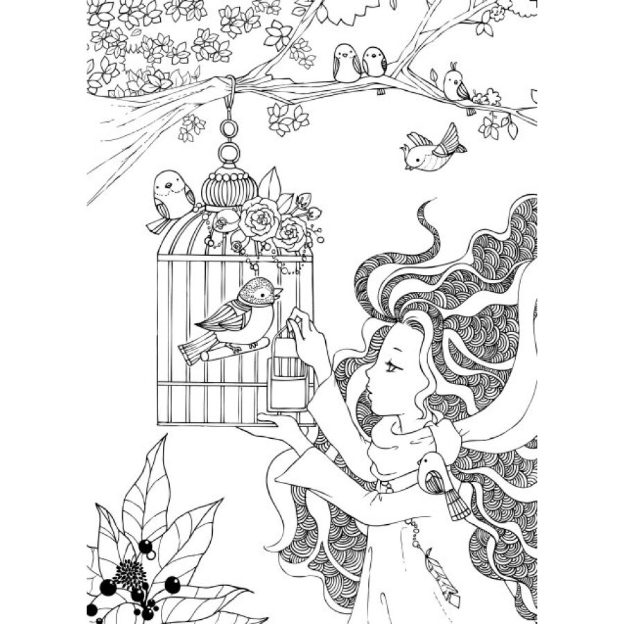Warna Pena Pensil Tongkat Sihir buku mewarnai untuk orang dewasa anak anak membunuh waktu hadiah Lukisan Menggambar antistress buku mewarnai di Buku dari