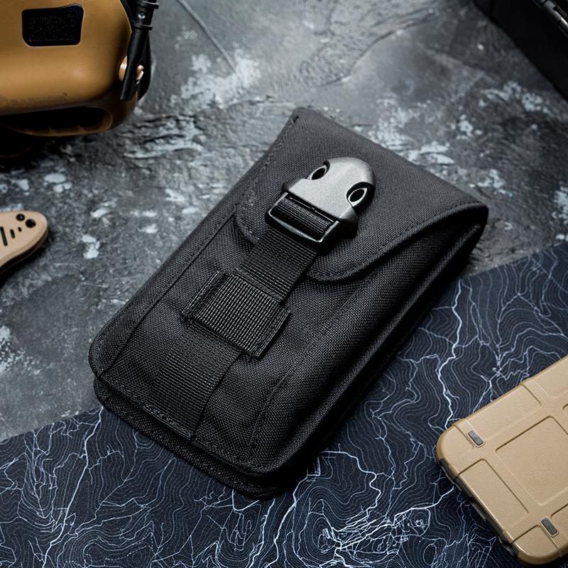 OneTigris Vertical Double Phone Pouch Molle Cellphone Case Wallet Utility Gadget Pouch Holster For IPhone 8/8 Plus IPhone X