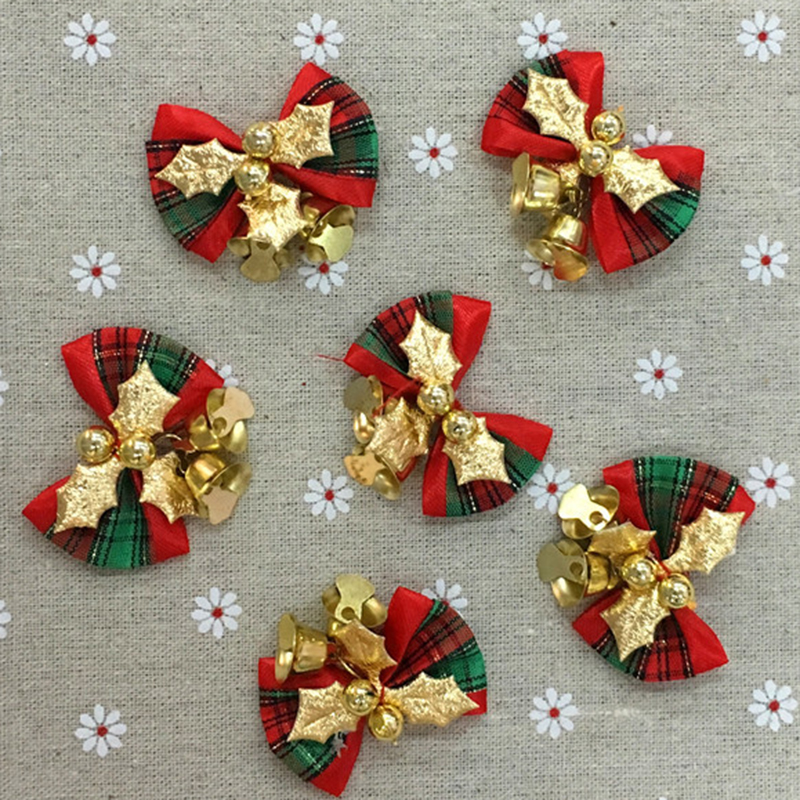 12 unidslote bowknot Jingle Bells Navidad rbol Adornos graland