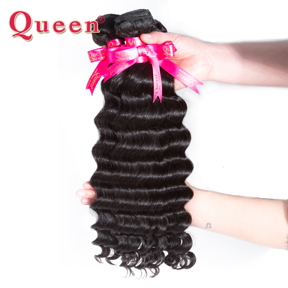 Queen Hair Lose Deep More Wave Brasilianische Haarwebart bündelt - Menschenhaar (für Schwarz) - Foto 6