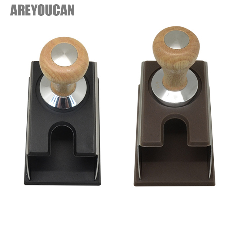 Areyoucan Perfect Coffee Black Silicon Espresso tamper Mat Stand holder support base rack no coffee tamper