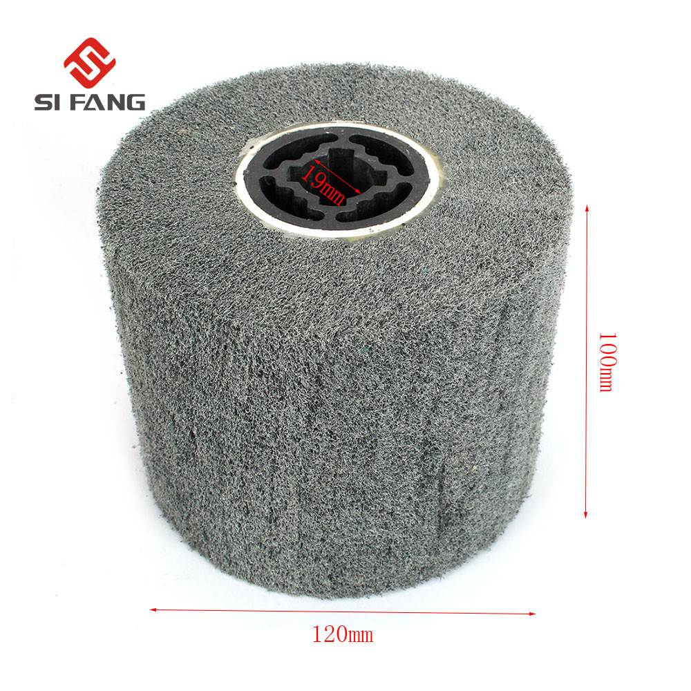 Grit 600 Non-Woven Wire Drawing Grinding Wheel Nylon Scouring Pad Polishing Wheel For Dremel Rotary Abrasive Tool 120*100mm
