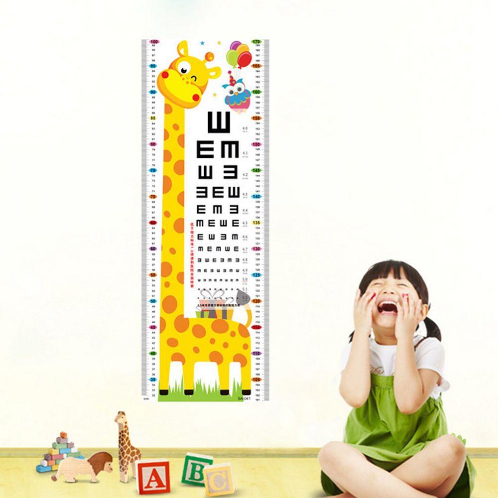 Aliexpress Buy Cartoon Wall Decal Sticker Giraffe Kids Growth