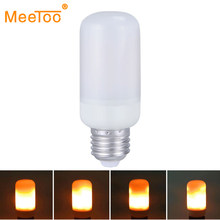 Dynamic Flame Effect Fire Light Bulb E26 E27 LED Lamp E14 E12 B22 Emulation Fire Burning Flicker Lantern Holiday Decorative Lamp(China)