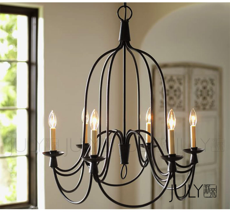 American Country Simple Candle Foyer Pendant Light Loft Style Dining Room Decoration Light Cafe Light AC90-265V Free Shipping