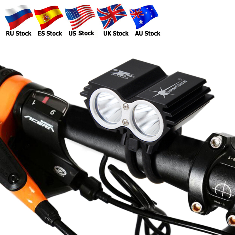 Waterproof Bike Light 2*T6 LED Bicycle Light 4 Modes MTB Road Front Cycling Headlight+ Safety Warning Red Laser Rear LampWaterproof Bike Light 2*T6 LED Bicycle Light 4 Modes MTB Road Front Cycling Headlight+ Safety Warning Red Laser Rear Lamp