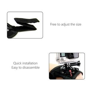 Image 5 - כפפת יד להקת 360 תואר מסתובב סיבוב יד רצועת חגורת חצובה הר לgopro Hero 9 8 7 6 5 4 3 + Pro עבור SJCAM GP127L