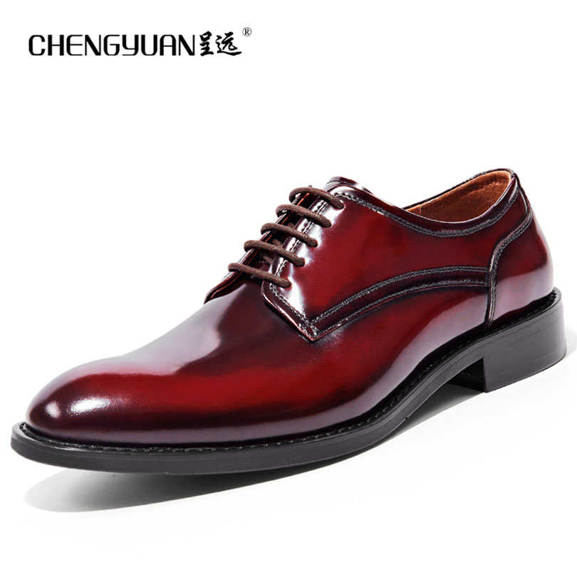 Men natrual genuine Leather business shoes for mens flats lace up black red blue Casual Leather men Shoes party wedding Shoes zdrd new fashion genuine leather men business casual shoes british low top lace up suede leather mens shoes brown red men shoes