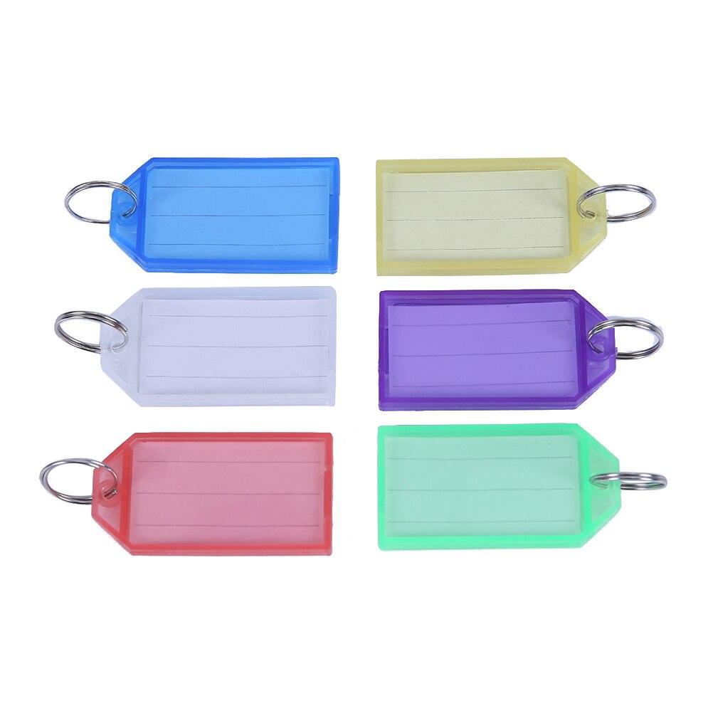 24 Stücke Multicolor Kunststoff Schlüssel Anhänger Gepäck Id Tags Etiketten Mit Schlüssel Ringe (mischfarbe) SorgfäLtig AusgewäHlte Materialien