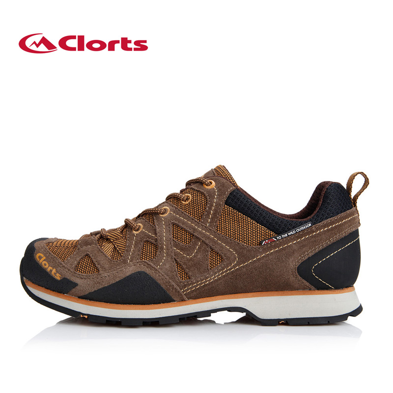 Clorts Outdoor Hiking Shoes For Men Suede Leather Trekking Shoes Lace Up Climbing Shoes Mens Hiking Rock Shoes Sneakers 3E004B breathable lace up men outdoor hiking shoes