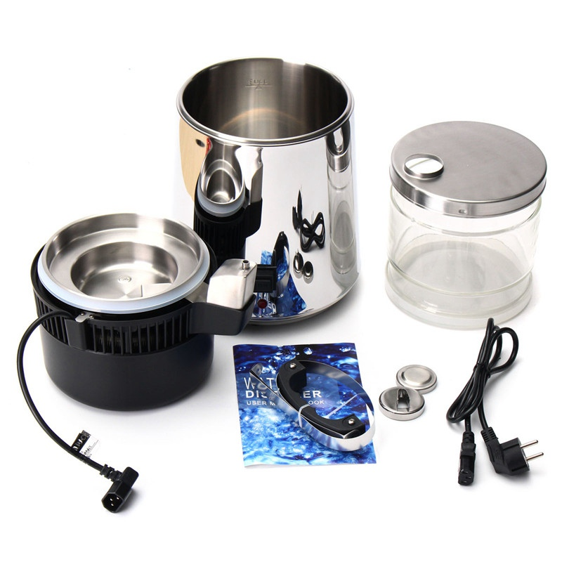 750W 4L Capacity Pure Water Distiller Purifier 304 Stainless Steel Container Filter Distilled Water Device 220V - 6