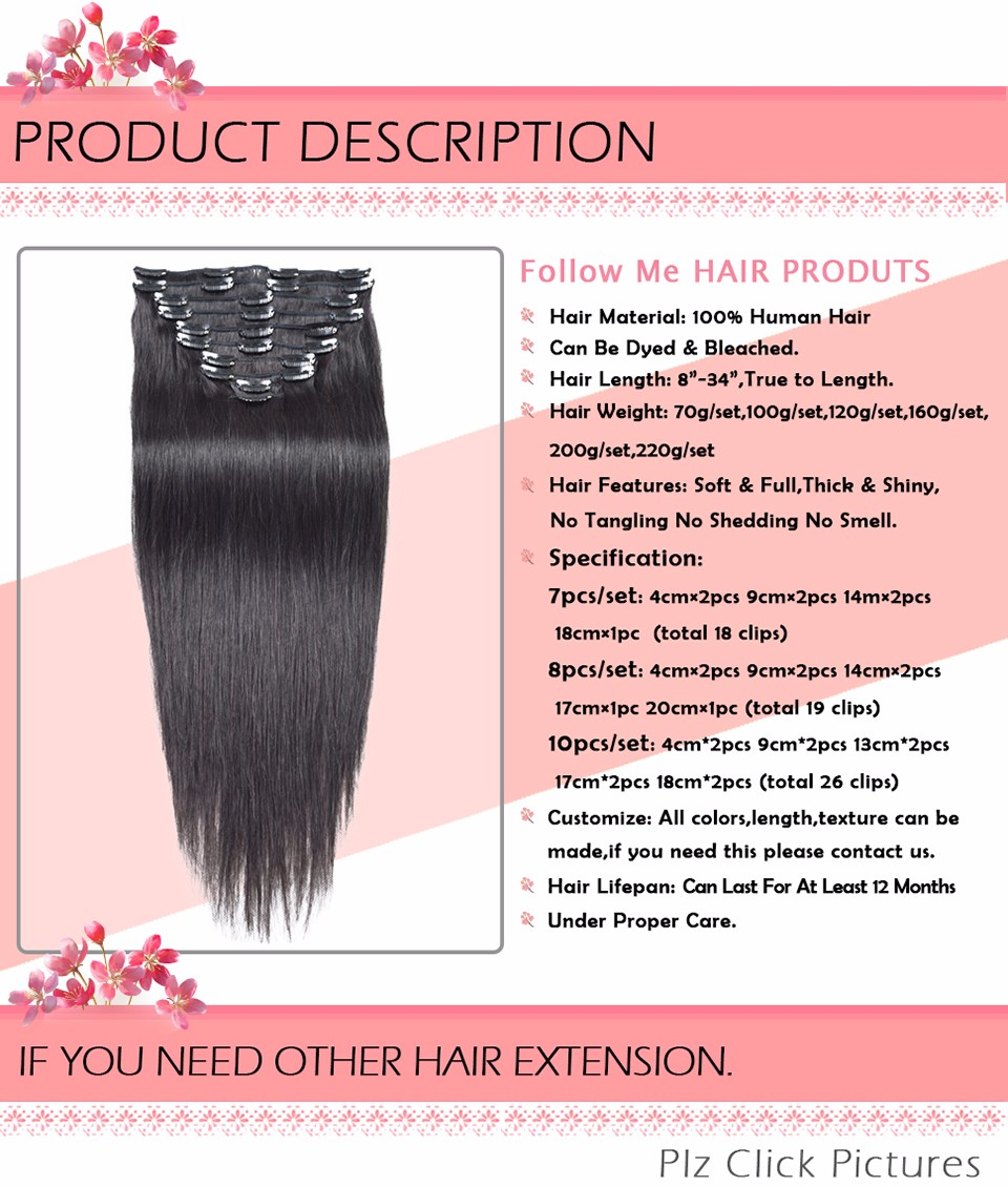 clip in human hair extensions (3)
