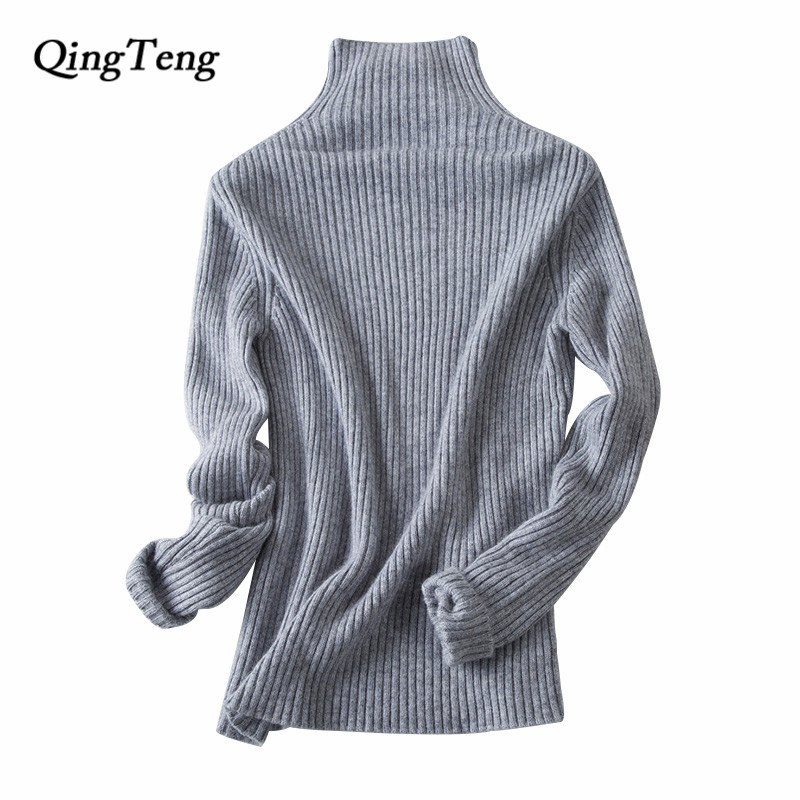 2018 Women's Fashion White Black Grey Cashmere Sweater Women Long Sleeve Autumn Winter Warm Turtleneck Pullover Knitted Jumper women slim white dress 2017 new autumn winter long sleeved pullover turtleneck knitted dress bodycon basic casual wear vestidos