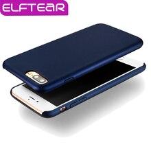 ELFTEAR Роскошные Кожаные Case Для iPhone 7 7 Plus Нейтрально свет Кожа Чувствовать Защитный Отслаивание Краски Устойчивы PU Оболочки Назад крышка
