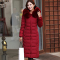 Women Winter Coat Cotton Knee Long Jackets Coat Female Overcoat Hooded Thick Padded Jacket Lady Plus Size Outerwear Parkas LQ072