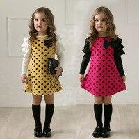 High Quality 1 Pcs Sale New Fashion Spring Flower Girl Party Dresses Kids Cute Dot Dress
