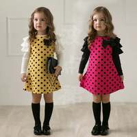 High Quality 1 Pcs Sale New Fashion Spring Flower Girl Party Dresses Kids Cute Dot Dress