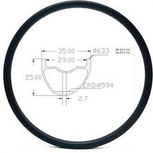 Графеновые карбоновые горные диски, диски для велосипеда 29er AM mtb, Велосипедные обода без крючков, велосипедные диски 35x25 мм, асимметричные 24 28 32 H, бескамерные
