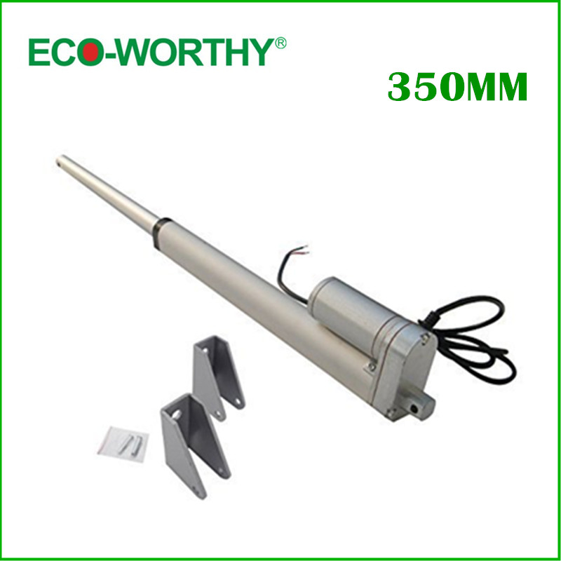 цена на 2pcs 350mm/14inch Stroke Heavy duty DC 12V 1500N/330lbs Load Linear Actuator Free shipping linear actuator
